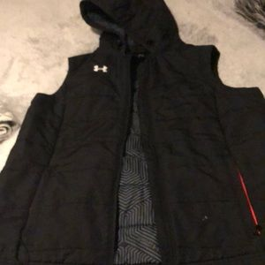 Under Armour down vest with hood